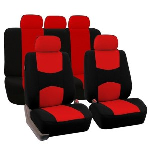 9 Pcs Universal Two Tone Car Seat Covers Set