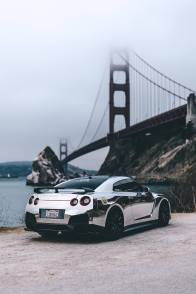 Nissan GT-R Chrome Phone Wallpaper