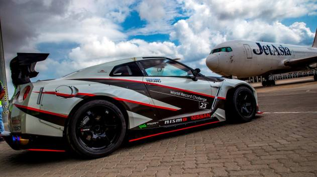 Nissan GT-R Record Drift 2016 Aeroport