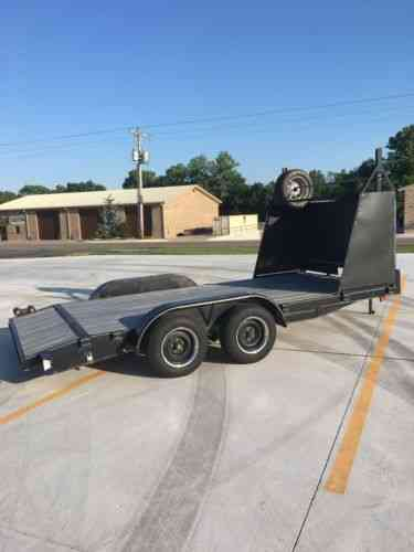 race car trailer with tire rack winch