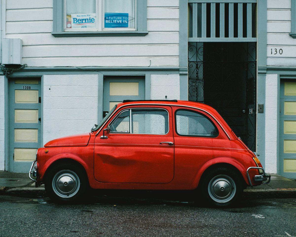 car scrap red car