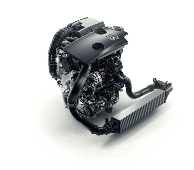 INFINITI four-cylinder turbocharged gasoline VC-T engine