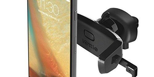 419sPlZ HcL - iOttie Easy One Touch Mini Air Vent Car Mount Holder Cradle for iPhone 7 7 Plus/ 6s Plus/6s/6, Galaxy S7/S7 Edge, EdgeS6/S6 Edge, Galaxy Note 5, Nexus 6, & Smartphones