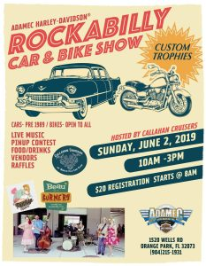 Rockabilly Car & Bike Show @ Adamec Harley-Davidson | Orange Park | Florida | United States