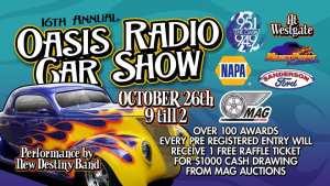 16th Annual Oasis Radio Car Show @ Glendale, Arizona | Glendale | Arizona | United States