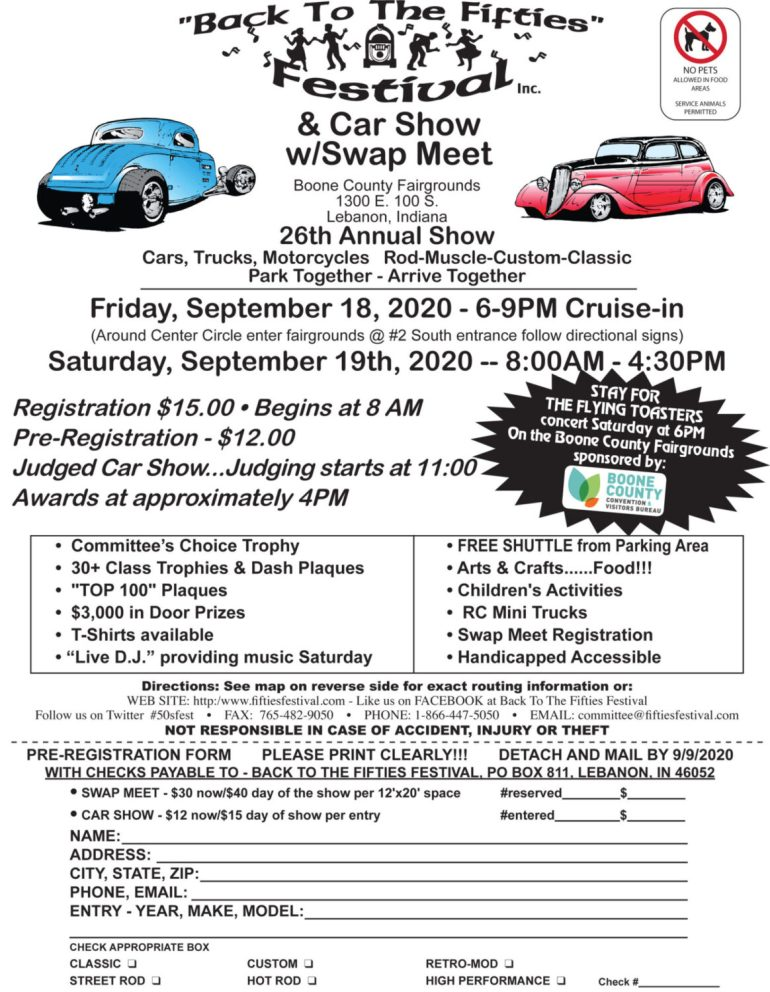 26th Annual Back to the Fifties Car Show @ Boone County Fairgrounds | Lebanon | Indiana | United States