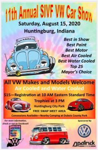 11th Annual SIVF VW Car Show @ Huntingburg City Park | Huntingburg | Indiana | United States
