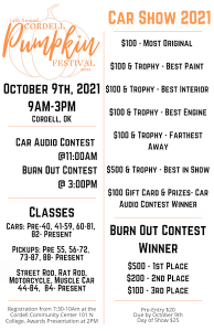 Cordell Pumpkin Festival and Car Show @ New Cordell   Oklahoma   United States