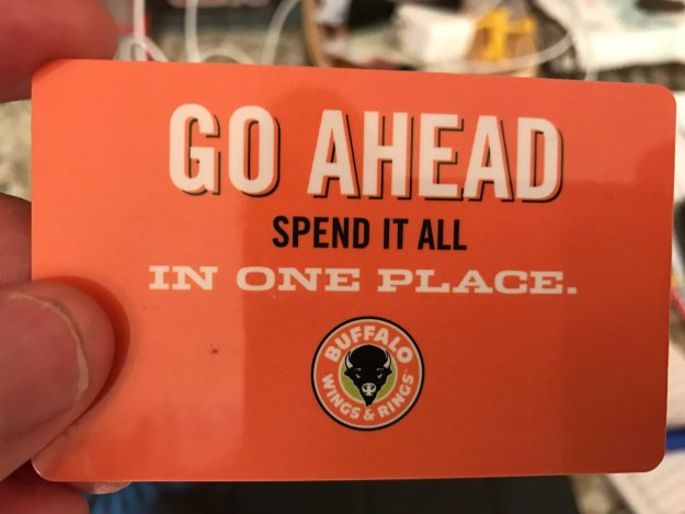 Sunday Cruisin' at Buffalo Wings & Rings gift card