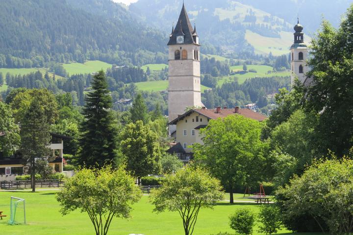 Una vista desde el Hotel Kitzbuhel