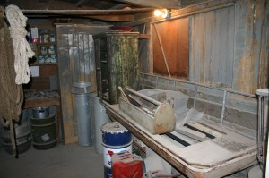 "Inside the Keeler ""repair shop"" in 2008, just like when the railroad left town."