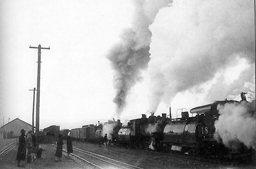 Feb. 16, 1938. Last train from Mina. (M. H. Ferrell Coll.)