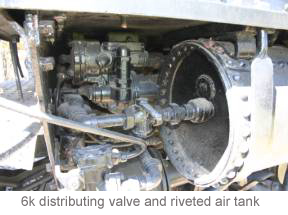 6k distributing valve and riveted air tank