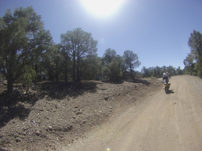 Adventure motorcycle riding in the Pine Nut Mountains, east of Carson Valley, Nevada.