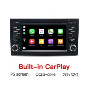 AUTORADIO NAVIGATORE 7″ AUDI A4 S4 ANDROID 8.1 CARPLAY E ANDROID AUTO INTEGRATI