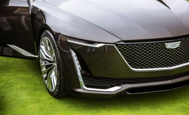 New Cadillac Escala in Car Show
