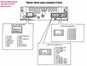 Car Audio Wire Diagram Codes Mazda  Factory Car Stereo Repair  Bose Stereo, Speaker