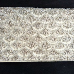 Cream Velvet Evening Clutch Purse