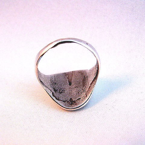 Native American Vintage Pawn Mother of Pearl Inlay and Silver Ring