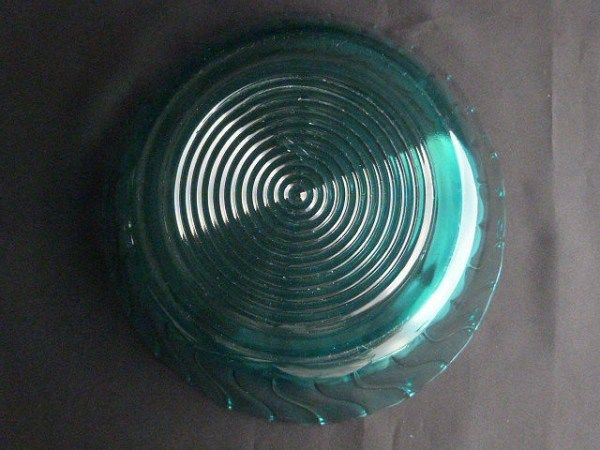 Vintage Ultramarine Salad Bowl by Jeannette Glass