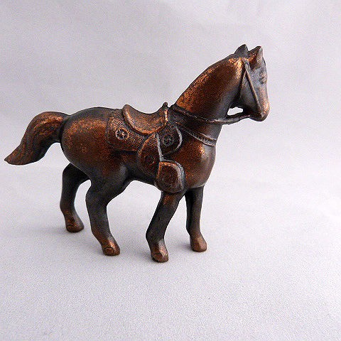 Vintage Bronzed Metal Miniature Horse