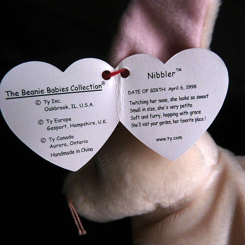 Nibbler Rare Retired Ty Beanie Baby