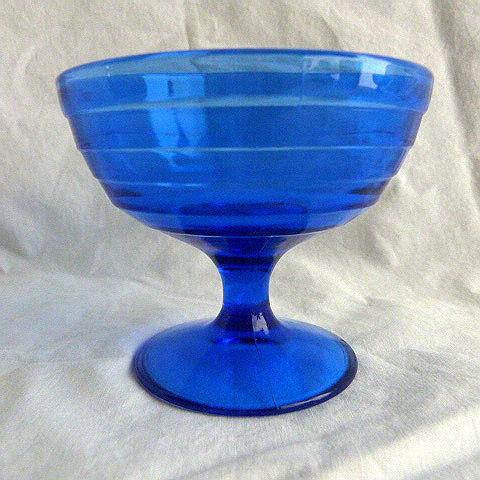 Hazel Atlas Champage/Sherbet Bowl Cobalt