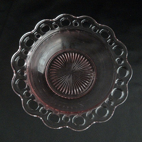Old Colony Pink Salad Bowl by Hocking Glass Company