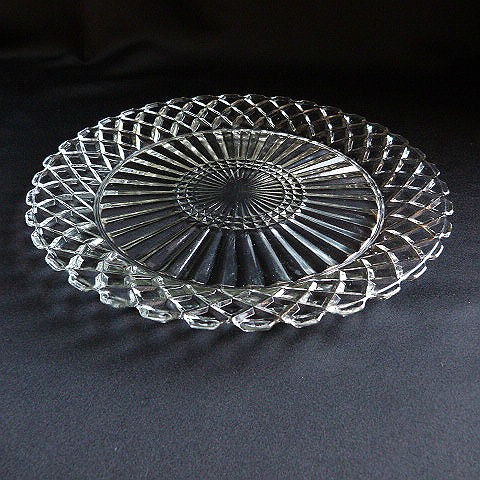 Waterford Waffle Clear Dinner Plate by Anchor Hocking