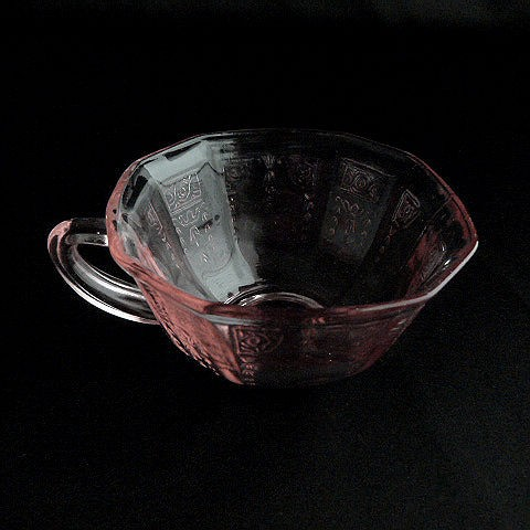 Pink Depression Glass Square Cup