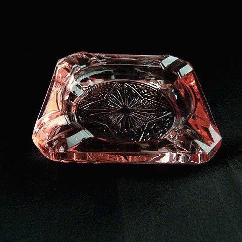 Pink Glass Cigarette Ashtray