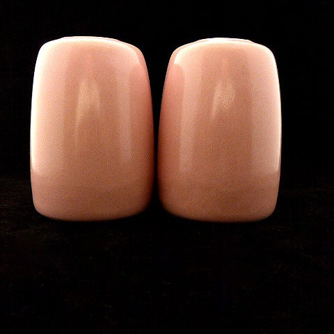 Mid-Century Pink Ceramic Salt and Pepper Shakers