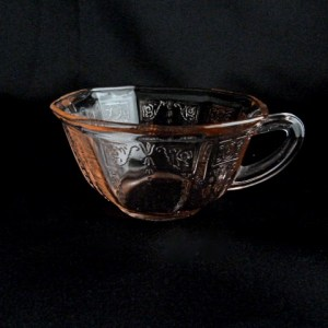 Princess Pink Depression Glass Cup