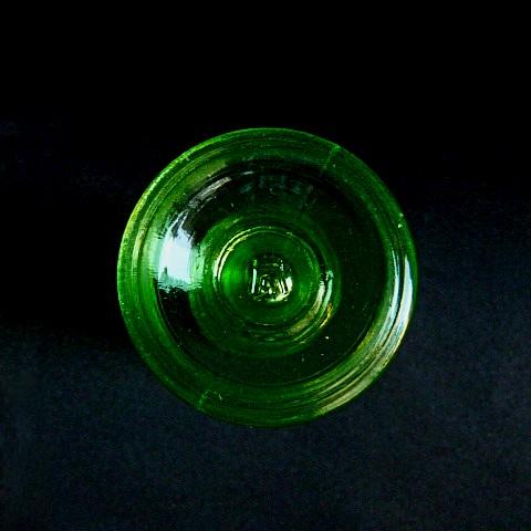 Green Glass Salt Shaker
