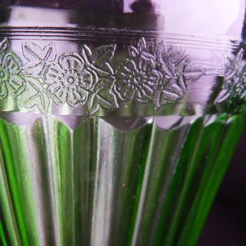 Depression Glass -Jeannette Adam Green Glass Pitcher