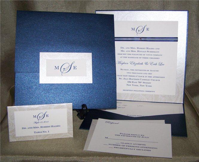 Sara Received Her Custom Blue Crab Pocket Wedding Invitations And Just