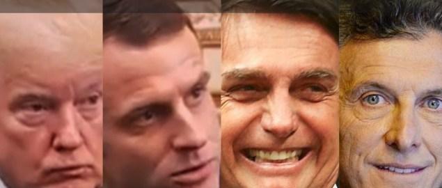 Trump, Macron, Bolsonaro e Macri são muito iguais em suas políticas fiscais.