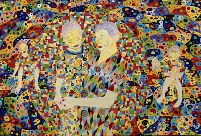 """Tropicália"" 2003 100 x 140  cm acrílica s/ tela"