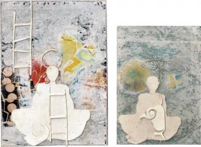 A Perene Alquimia do Catar papel  (7) (Técnica- - 2010 Ilustração, colagem, recorte e papel de presente, selo, grafite sobre papelão descolado)