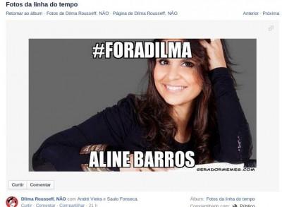 Aline Barros #FORADILMA