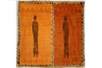 africanas--monotipia em acrílico com aquarela--2006