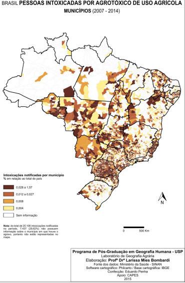 mapa da intoxica agrotoxico larissa