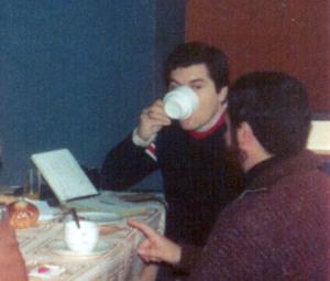 El maestro de la duda, desayunando en el Hotel Alfonso XIII