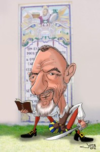 Arturo-Pérez-Reverte-Caricatura