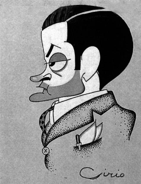 Enrique Jardiel - Caricatura