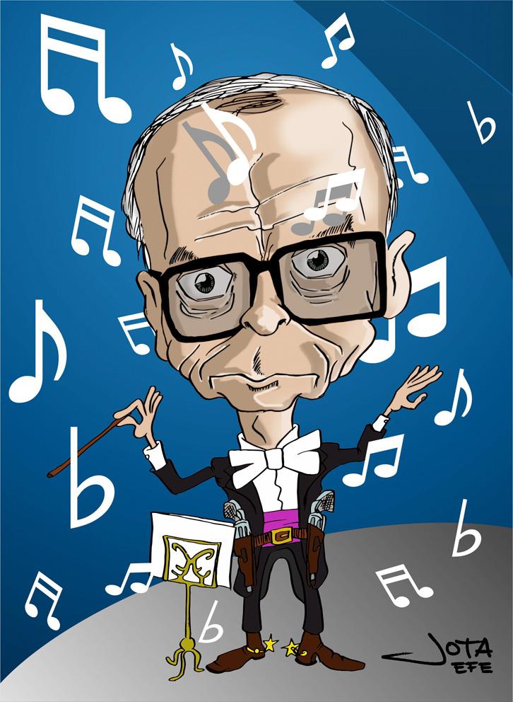 Ennio Morricone - caricatura