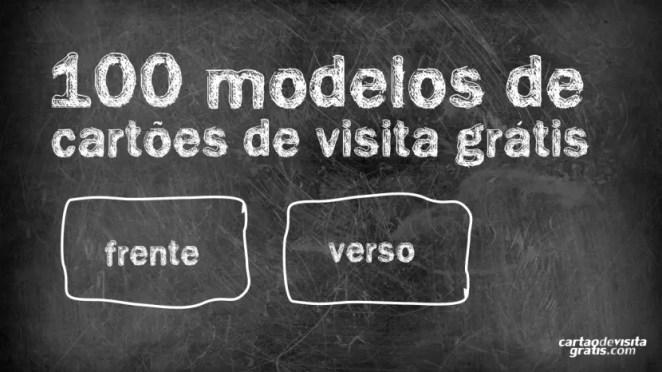 100 modelos de cartões de visita para download