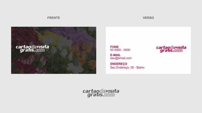download modelo de cartão de visita floricultura vetor