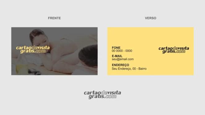download modelo de cartão de visita massagista vetor