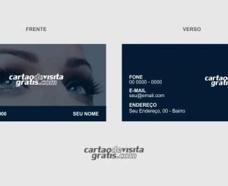modelo de cartão de visita designer de sobrancelhas